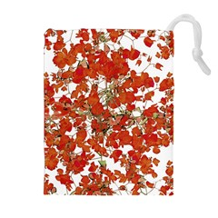 Vivid Floral Collage Drawstring Pouches (Extra Large)