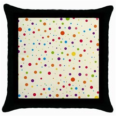 Colorful Dots Pattern Throw Pillow Case (black)