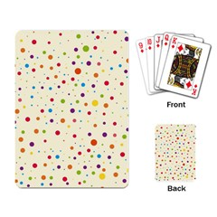Colorful Dots Pattern Playing Card