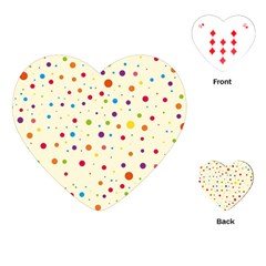 Colorful Dots Pattern Playing Cards (heart)