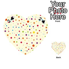 Colorful Dots Pattern Playing Cards 54 (heart)