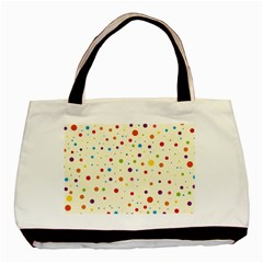 Colorful Dots Pattern Basic Tote Bag (Two Sides)
