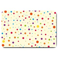 Colorful Dots Pattern Large Doormat