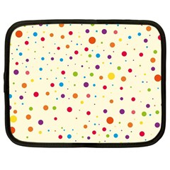 Colorful Dots Pattern Netbook Case (large)