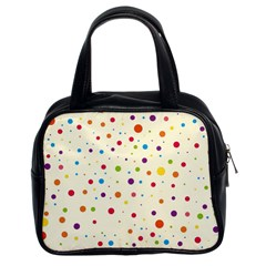 Colorful Dots Pattern Classic Handbags (2 Sides)