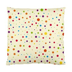 Colorful Dots Pattern Standard Cushion Case (one Side)