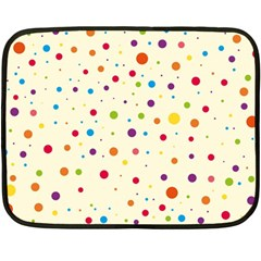 Colorful Dots Pattern Double Sided Fleece Blanket (mini)
