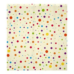 Colorful Dots Pattern Shower Curtain 66  X 72  (large)