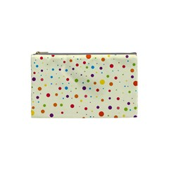 Colorful Dots Pattern Cosmetic Bag (small)