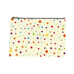 Colorful Dots Pattern Cosmetic Bag (Large)