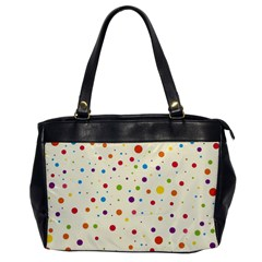 Colorful Dots Pattern Office Handbags
