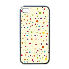 Colorful Dots Pattern Apple iPhone 4 Case (Black)