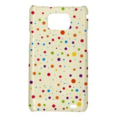 Colorful Dots Pattern Samsung Galaxy S2 i9100 Hardshell Case