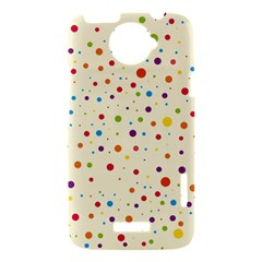 Colorful Dots Pattern HTC One X Hardshell Case