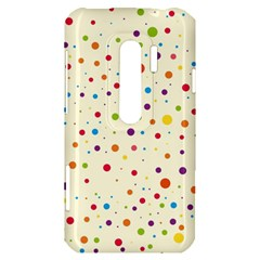 Colorful Dots Pattern HTC Evo 3D Hardshell Case