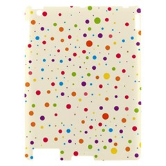 Colorful Dots Pattern Apple iPad 2 Hardshell Case