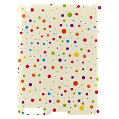 Colorful Dots Pattern Apple iPad 2 Hardshell Case (Compatible with Smart Cover)