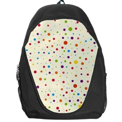 Colorful Dots Pattern Backpack Bag