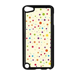 Colorful Dots Pattern Apple iPod Touch 5 Case (Black)