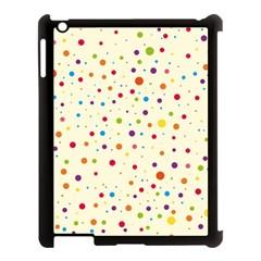 Colorful Dots Pattern Apple iPad 3/4 Case (Black)