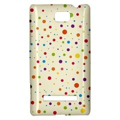 Colorful Dots Pattern HTC 8S Hardshell Case