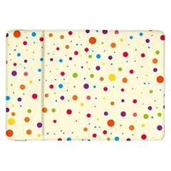 Colorful Dots Pattern Samsung Galaxy Tab 8.9  P7300 Flip Case