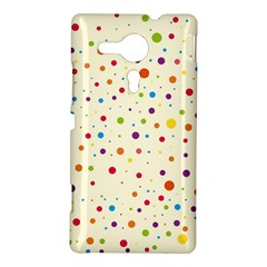 Colorful Dots Pattern Sony Xperia SP