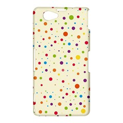 Colorful Dots Pattern Sony Xperia Z1 Compact