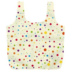 Colorful Dots Pattern Full Print Recycle Bags (L)