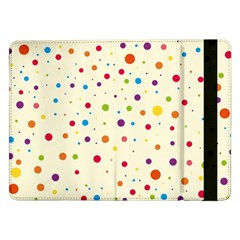 Colorful Dots Pattern Samsung Galaxy Tab Pro 12.2  Flip Case