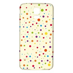 Colorful Dots Pattern Samsung Galaxy S5 Back Case (White)