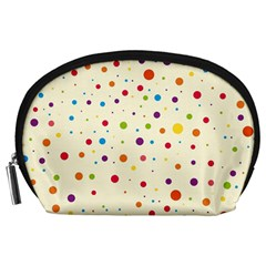 Colorful Dots Pattern Accessory Pouches (Large)