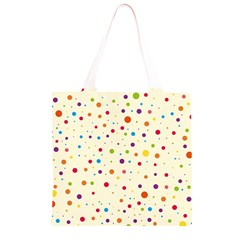 Colorful Dots Pattern Grocery Light Tote Bag
