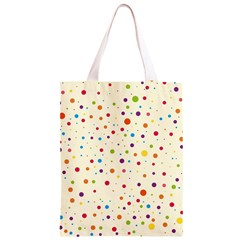 Colorful Dots Pattern Classic Light Tote Bag