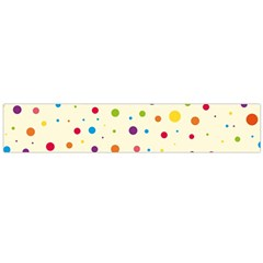 Colorful Dots Pattern Flano Scarf (Large)