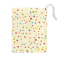 Colorful Dots Pattern Drawstring Pouches (Extra Large)