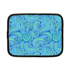 Abstract Blue Wave Pattern Netbook Case (small)