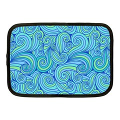 Abstract Blue Wave Pattern Netbook Case (medium)