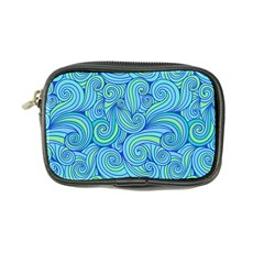 Abstract Blue Wave Pattern Coin Purse