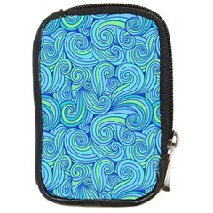 Abstract Blue Wave Pattern Compact Camera Cases