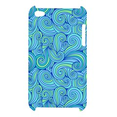 Abstract Blue Wave Pattern Apple iPod Touch 4