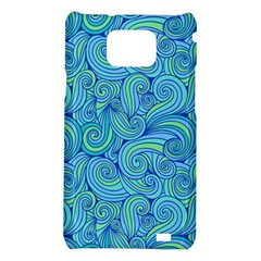 Abstract Blue Wave Pattern Samsung Galaxy S2 i9100 Hardshell Case