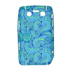 Abstract Blue Wave Pattern Bold 9700