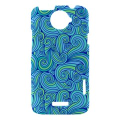 Abstract Blue Wave Pattern HTC One X Hardshell Case