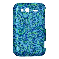 Abstract Blue Wave Pattern HTC Wildfire S A510e Hardshell Case