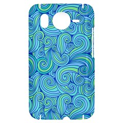Abstract Blue Wave Pattern HTC Desire HD Hardshell Case