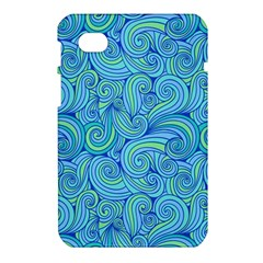 Abstract Blue Wave Pattern Samsung Galaxy Tab 7  P1000 Hardshell Case