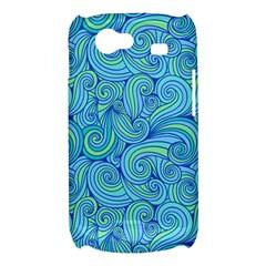 Abstract Blue Wave Pattern Samsung Galaxy Nexus S i9020 Hardshell Case