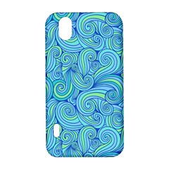 Abstract Blue Wave Pattern LG Optimus P970