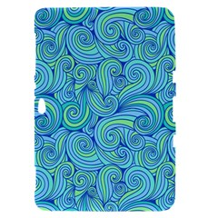 Abstract Blue Wave Pattern Samsung Galaxy Tab 8.9  P7300 Hardshell Case